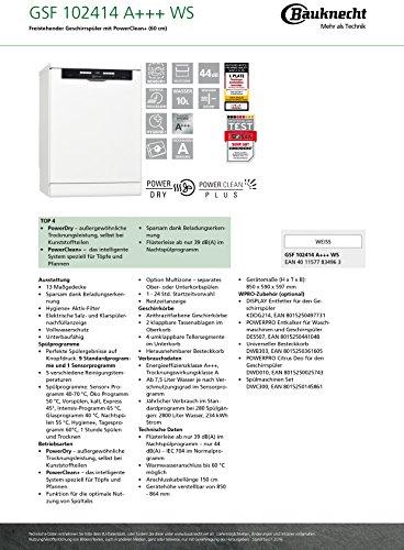 Bauknecht GSF 102414 WS Geschirrspüler - 3