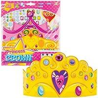 Baker Ross Kits d'autocollants couronnes de Princesse pour Enfant Parfaits pour Les Loisirs créatifs et Les décorations des Enfants (Lot de 3)