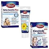 3er Pack Abtei (Beta Carotin Plus, Calendula Ringelblumen Salbe, Kieselerde Biotin Plus)
