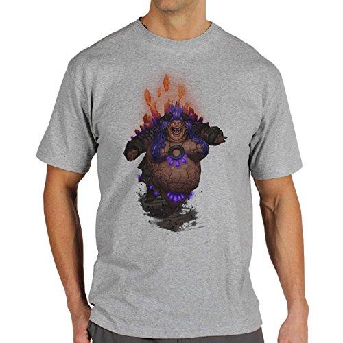 World Of Warcraft Heroes Blizzard Therazane Herren T-Shirt Grau