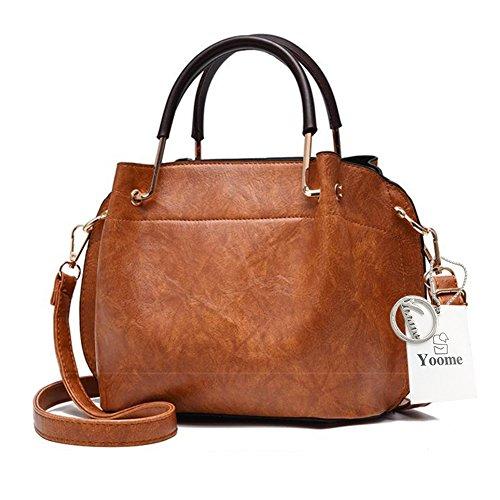 Yoome Vintage Taschen Für Frauen Crossbody Top Handle Tote Clutch Taschen Für Mädchen Make-up Beutel Tasche - Schwarz Khaki