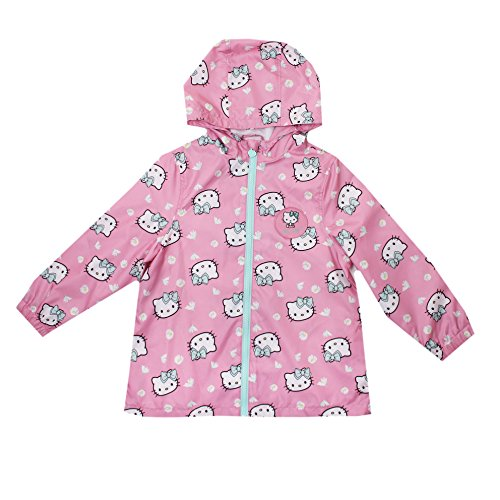 Hello Kitty Mädchen Hearts-Kids Zip Jacket-Pink Mantel, 86 (Mädchen Kitty Hello)
