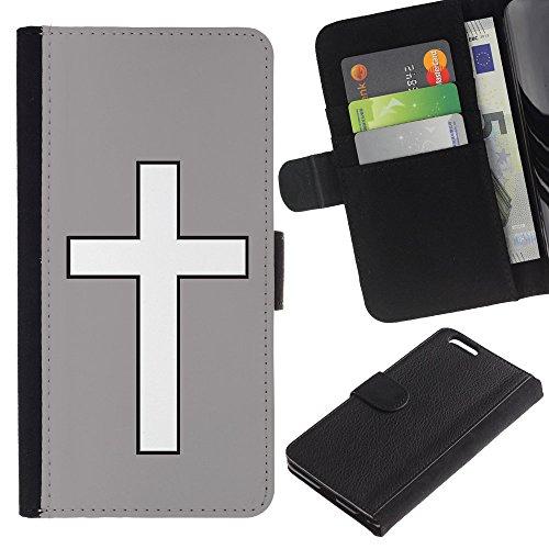 """Graphic4You Kreuzr Design Brieftasche Leder Hülle Case Schutzhülle für Apple iPhone 6 Plus / 6S Plus (5.5"""") (Neon Rosa) Grau"""