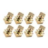 Zerone 8 Pezzi- Set di Sospensione per Diffusori in Rame Set Subwoofer Amplificatore Audio CD Supporti per Isolamento Giradischi Piedini Conici