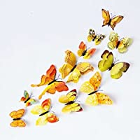 3D Butterfly 12PCS Stickers Making Stickers Wall Stickers Crafts Butterflies by UK Deals