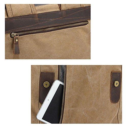 YAAGLE Verücktes Pferd outdoor Reisetasche schick Rucksack Gepäck Herren Schultertasche Business Taschen-khaki blue