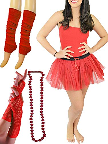 Islander Fashions Damen 1980er Jahre Hen Night Red Devil Kost�m Womens Stag Do Party Wear Outfit Set EU 42