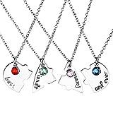 Jovivi Set di 4 collane dell'amicizia, con scritta 'Best friends forever and ever', motivo con cuore e puzzle