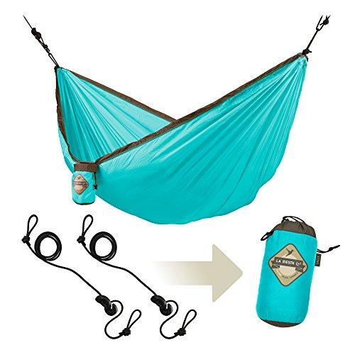 LA SIESTA Colibri - Hamac de voyage simple avec fixation Turquoise