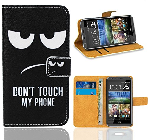 HTC Desire 820 Handy Tasche, FoneExpert Wallet Case Flip Cover Hüllen Etui Ledertasche Lederhülle Premium Schutzhülle für HTC Desire 820