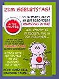 Riesen Grußkarte Geburtstag Humor AvanFriends XXL Accessoires Alter Knacker Button