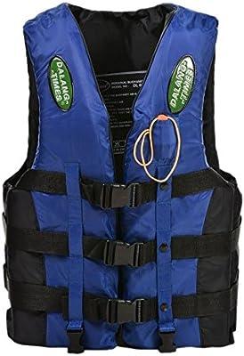 chalecos de salvavidas - Dalang Times Chaleco completamente cerrado para adulto de canotaje de termico PFD de tamano de adulto de color azul XXL