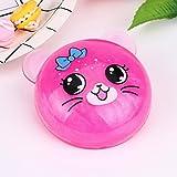 #6: Fancyku Fluffy Slime Crystal Animals- Super Soft, Fluffy Floam Slime Sludge Toys School Gifts, Stress Relief Toys (Pink)