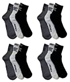 #10: Pack Of 12 Pairs Socks With JocKey Logo Sports Ankle Length Cotton Towel Socks
