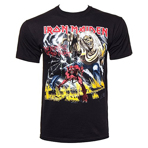 Iron Maiden Number Of The Beast Graphic Camiseta Negro S