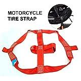 Funihut - Cinghia per Moto/Moto, con Corda Elastica, Cinghia di Fissaggio per Ruota Posteriore, Cinghia per Pneumatico di Moto