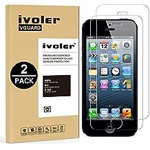 [2 Pack] iPhone SE / 5s / 5 / 5c Protector de Pantalla, iVoler® Protector de Pantalla de Vidrio Templado Cristal Protector para Apple iPhone SE 5 5s 5c - Dureza de Grado 9H, Espesor 0,30 mm, 2.5D Round Edge-[Ultra-trasparente] [Anti-golpe] [Ajuste Perfecto] [No hay Burbujas]- Garantía Incondicional de 18 Meses