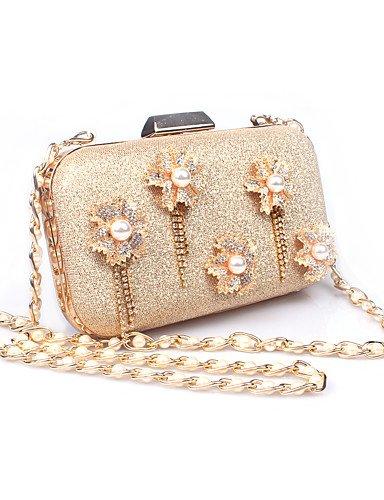 Da Wu Jia Ladies borsetta di alta qualità delle donne di lusso similpelle formale / (Anello Fiore Crystal Rose)
