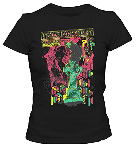 Trick or Treat Cooles Party Damen T-Shirt_schwarz_XL