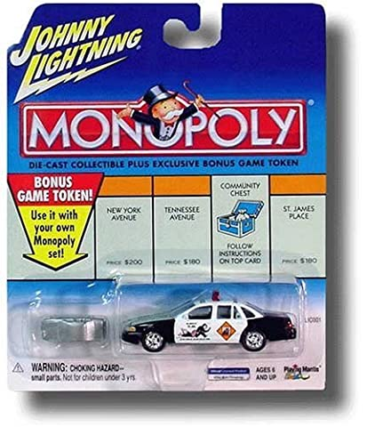Johnny Lightning 2001 Monopoly Do Not Pass Go 1997 Crown Victoria Car by Johnny Lightning