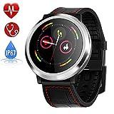 Zagzog Reloj Inteligente táctil Reloj Podometro Pulsera Hombre Mujer Impermeable IP67 Color Monitor de Frecuencia Cardiáco para iOS y Android (Negro)