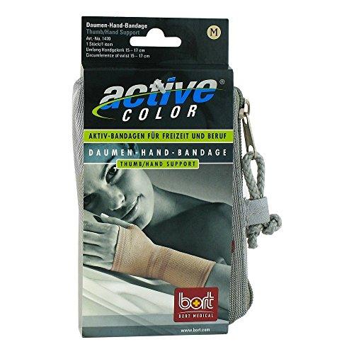 bort 1470 medium haut ActiveColor Daumen-Hand-Bandage für rechts und links gleich, medium, beige