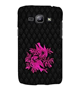EPICCASE Beautiful neon birds Mobile Back Case Cover For Samsung Galaxy J1 (Designer Case)