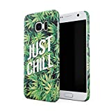 Just Chill Mary Jane Weed Take A Hit Puff Puff Blunt Coque De Protection Fine en Plastique Housse Etui Rigide pour Samsung Galaxy S7 Slim fit Case Cover