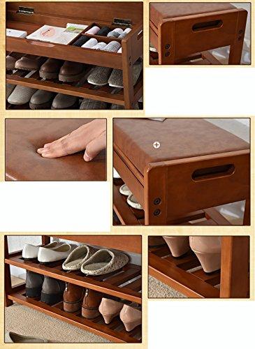 YMXLJF Panca scarpa in legno massello, scarpiera, sgabello ...