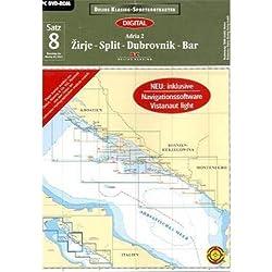 Sportbootkarten 07 Adria 2 (2011). CD-ROM: Zirje - Split - Dubrovnik - Bar