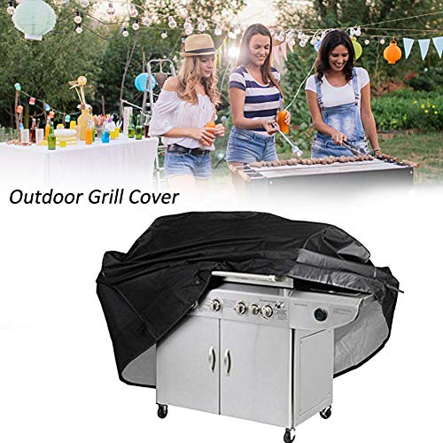 Kitabetty Barbeque Grill Cover, Protective BBQ Cover BBQ Oven Cover, 210D Double Waterproof Heavy Duty Gas Grill Cover, Picnic Barbeque Cover Protector for Grilling
