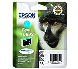 Epson C13T08924011|T0892 Tintenpatrone cyan, 170 Seiten 185, Inhalt 3,5 ml für Epson Stylus S 20/SX 115/415 kompatibel zu Stylus SX 400 WiFi, Stylus SX 405, Stylus S 20, Stylus SX 200, Stylus SX 400, Stylus SX 405 WiFi, Stylus SX 100, Stylus SX 105, Stylus SX 205, Stylus Office BX 300 F, Stylus SX 110, Stylus SX 210, Stylus SX 410, Stylus S 21, Stylus SX 115, Stylus SX 215, Stylus SX 415, Stylus SX 417, Stylus SX 218