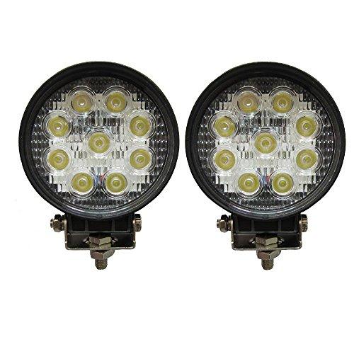 Outdoor Halogen-scheinwerfer (2 X 27W LED Offroad Flutlicht Reflektor Scheinwerfer Arbeitslicht SUV, UTV, ATV Arbeitsscheinwerfer Zusatzscheinwerfer Offroad Scheinwerfer 12V 24V)