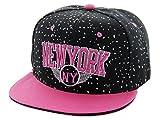 Casquette chapeau très à la mode apprécié des jeunes et des sportifs pour son aspect léger et pratique Hip-hop cap fille garçon unisex en PROMOTION une bonne idée de cadeau de noel ou d'anniversaire, choisir:Cap-103 NY noir pink