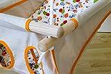 Hängebettchen aus 100% Bio-Baumwolle von Petite planète Zébul'hamac Babybettchen Hängeschaukel (natur/orange)