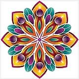 NISH! Rangoli Sticker #011 (Vinyl, Small - 12in X 12in, 50 Pieces)   Rangoli Stickers Floor   Rangoli Floor Stickers   Rangoli Stickers For Wall   Rangoli Stickers For Doors   Diwali Rangoli Stickers