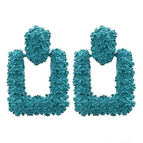 ESCYQ OrecchiniABottoneOrecchiniPendentiLineaDell'Orecchio Semplice Forma Geometrica Orecchini in Lega di Temperamento Esagerato Orecchini di Metallo Verde, Onorevoli Regalo di Compleanno