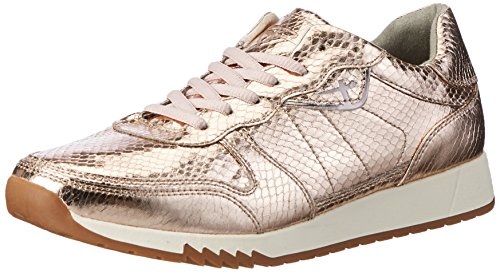 Tamaris Women's 23604 Low-Top Sneakers, Gold (Copper Struct. 902), 5 UK