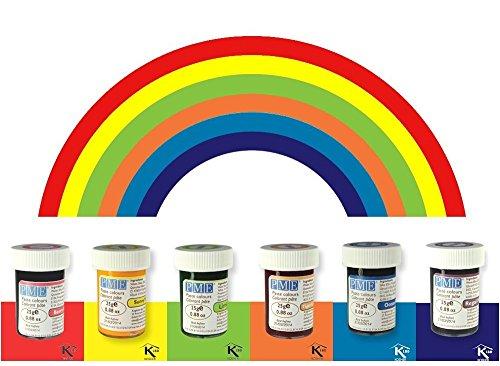 Cake Decorating Gel (PME Icing Colour Gel Paste Cupcake Decorating Rainbow Cake Colours Set Kit)