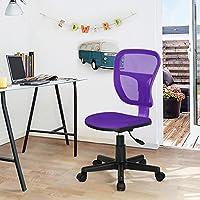 Study Chair Fanilife Office Chair Adjustable Design Swivel Kids Children Computer Seat Desk Task Chair Armless Purple