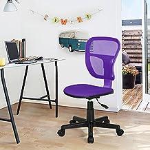Silla de estudio fanilife silla de oficina ajustable giratorio de diseño niños niños computadora asiento silla de escritorio Task, color morado