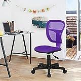 Drehstuhl Schreibtischstuhl Bürostuhl Kinder Arbeitsstuhl verstellbar, gepolsterte Sitzflaeche aus Netz, Lila