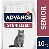 Advance Croquettes Poulet pour Chat Stérilisé Senior +10 Ans 10 kg
