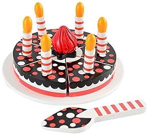 MAGNI-Tarta de cumpleaños de Madera con Velcro y Velas, 1791