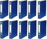 10 Ordner Blau Kunststoff 5cm Aktenordner 50mm DIN A4 Büro von