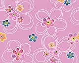 A.S. Création Papiertapete Boys and Girls Ökotapete Tapete Kindertapete 10,05 m x 0,53 m bunt rosa lila Made in Germany 304602 30460-2