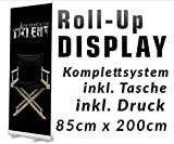 Roll up Display 85x200cm +Druck +Tasche Roll-UP Werbedisplay Werbeständer Bannerdisplay Aufsteller Werbebanner 12A06, Roll up Größe:85cmx200cm