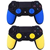 Generic 2 pcs Soft Anti-Slip Silicone Rubber Skin Case Cover For Sony PlayStation Dualshock 4 PS4 Pro Slim Controller Game Accessories
