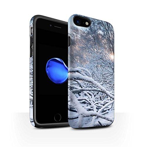 STUFF4 Matte Harten Stoßfest Hülle / Case für Apple iPhone 8 / Gefrorene Bäume Muster / Winter Saison Kollektion Branches/Zweige