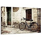 fahrrad bahnhof bmx bahnschiene format 100x70 cm auf leinwand xxl riesige bilder fertig. Black Bedroom Furniture Sets. Home Design Ideas
